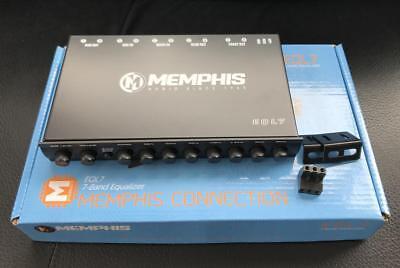 MEMPHIS CAR AUDIO EQL7 7 Band Graphic Equalizer Preamp 8 Volt Out Sub Control