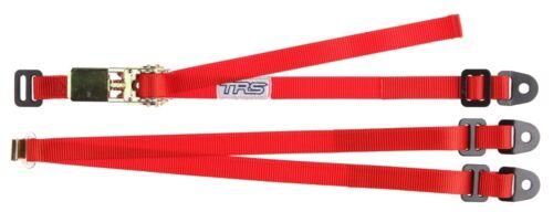 """TRS correa de Rueda de Repuesto Rojo-fijo de 3 puntos Ajustable Trinquete Amarre 25mm//1/"""""""