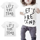 Toddler Kids Boys Girls Tops Clothes Cotton T-shirt Summer Short Sleeve Top Tee