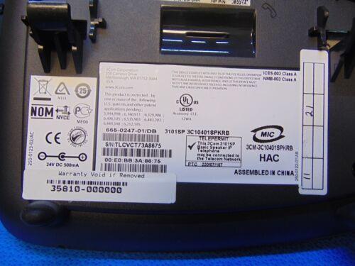 Lot Of 10~3Com~3101~Basic Speaker Phones~W//Bases /& Handsets~Free Shipping~RH123