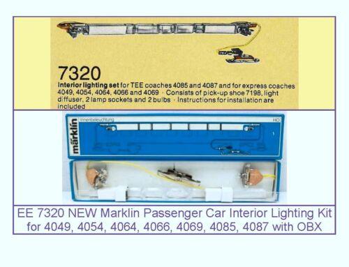 EE 7320 LN Marklin Passenger Car Interior Lighting Kit 4049 54 64 66 69 85 87