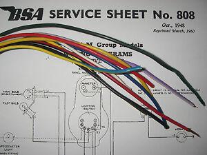 [DIAGRAM_5UK]  Norton Rudge Triumph BSA Ariel Matchless AJS Wiring - Positive Earth 10  Meter | eBay | Ajs Wiring Diagram |  | eBay