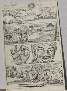 ERNIE-CHAN-Published-Original-Art-SAVAGE-SWORD-of-CONAN-152-pg-5-Signed-w-art