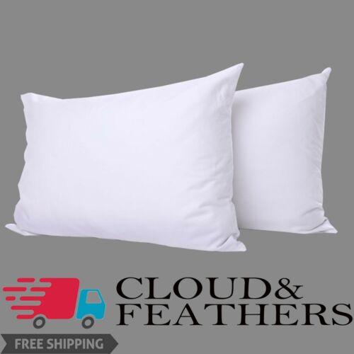 Luxe Poly coton fibres creuses non-allergène rebondir Oreillers Pack de 2 /& 4