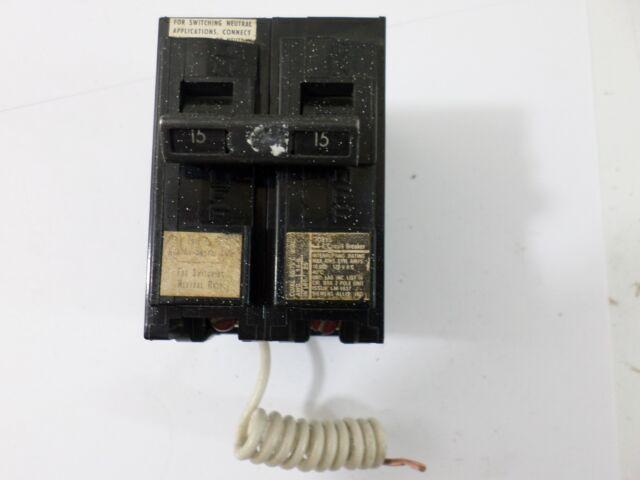 Siemens ITE QG215 2 Pole 15 Amp Switch Neutral Breaker 120v Plug in ...