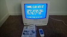 """Panasonic PVQ-1300WA White 13"""" TV VHS VCR Combo w/ Remote Control Omnivision"""