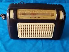 Rara Antica RADIO a VALVOLE da comodino MARELLI 130 del 1955 Ottima FUNZIONANTE