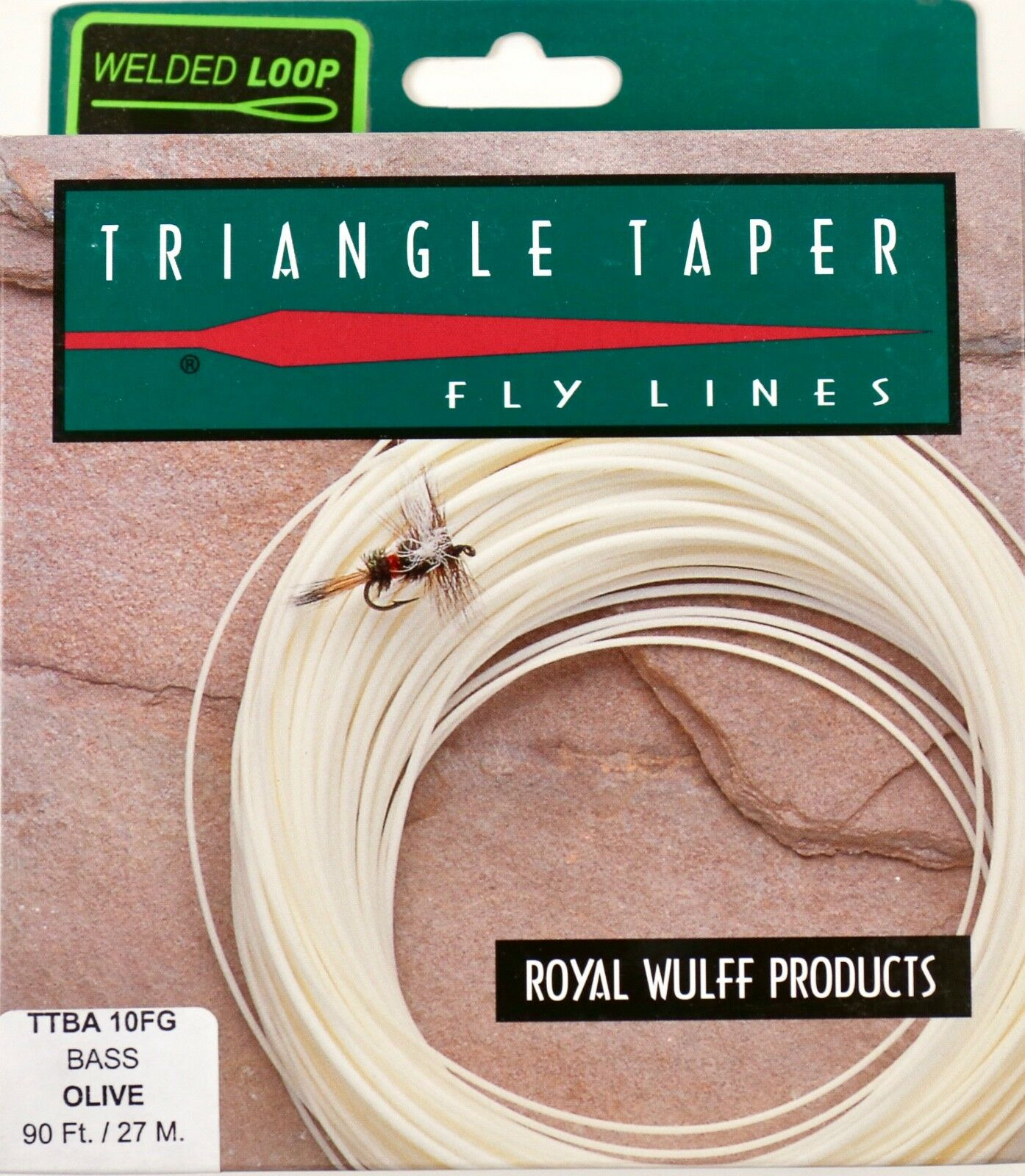 Royal Wulff Bass Triangle Taper 10 WT Fly Line Olive Free Fast Shipping TTBA10FG