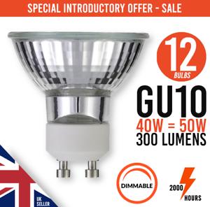 12x-Dimmable-GU10-40W-50W-240V-Reflector-Down-Lighter-Halogen-Lamp-Light-Bulbs