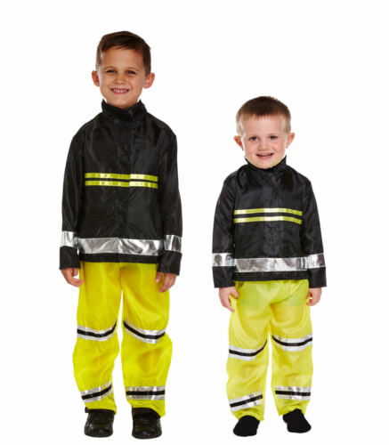 FIRE FIGHTER FIREMAN SAM DRESSING UP COSTUME FANCY DRESS BOYS TODDLER AGE 2-12