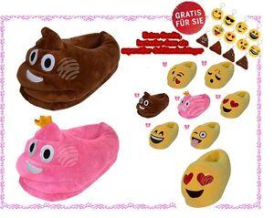 Emoji-Kuschel-Hausschuhe-Emoticon-Pluesch-Smiley-gratis-Schluesselanhaenger
