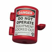 Zing 7105 Plug Lockout red 9 16in Shackle Dia. Building Supplies