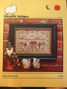Sheepish-Designs-Salina-Di-Woody-1810-Sampler-Counted-Cross-Stitch-Pattern-OOP