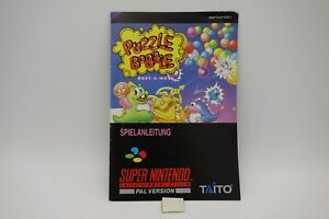 PUZZLE-BUBBLE-manuale-di-istruzioni-per-SUPERNINTENDO-SNES-SUPER-NINTENDO