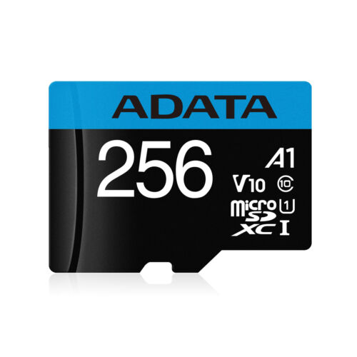 256GB AData Premier microSDXC A1 UHS-1 CL10 Memory Card w//SD adapter 85MB//sec