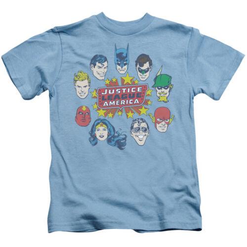 DC Comics Justice League Head Circle Flash Batman Aquaman Little Boys T-Shirt T