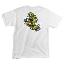 Santa Cruz Rob Roskopp ROB HAND Skateboard T Shirt WHITE XL