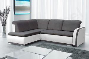 Das Bild Wird Geladen Moderne Ecksofa Sofa  Eckcouch Polsterecke Polstergarnitur Schwarz Weiss