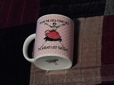 "Coffee MUG - ""I'm on the Gin & Tonic Diet, I've Already Lost Two Days"" - F.SHIP)"