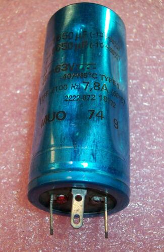 1650uf 63V 10//+50/%  85/' 3 LUG ALUMINUM ELECTROLYTIC CAPACITORS 1600uf 1700uf