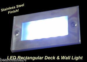 LED-Rectangular-Deck-amp-Wall-Light-Stainless-Steel-Finish
