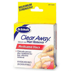 DR-SCHOLL-039-S-CLEAR-AWAY-WART-REMOVER-18-MEDICATED-DISCS-Box