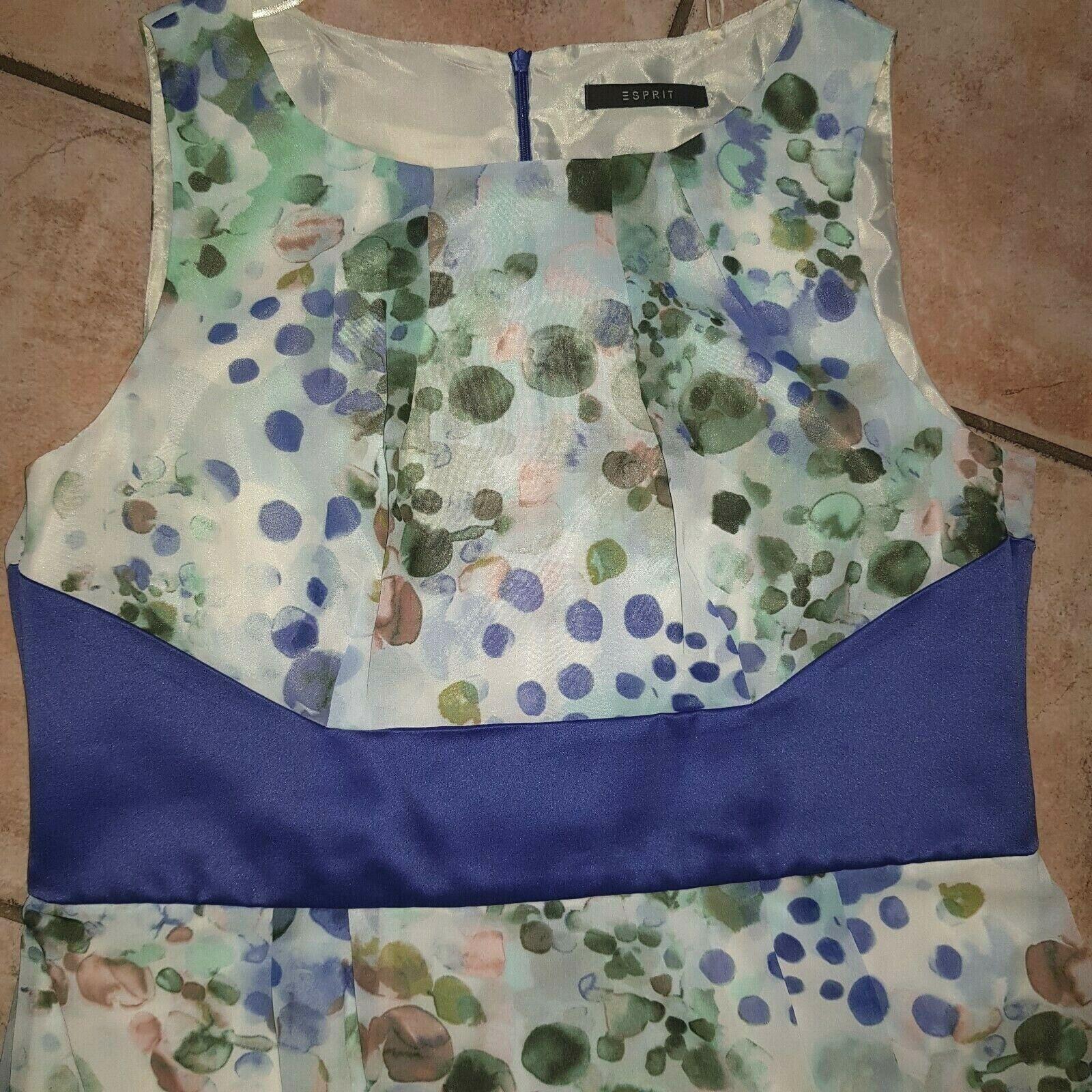 Kleid knielange Form Gr. 42 Esprit gemustert Etuikleid ungetragen