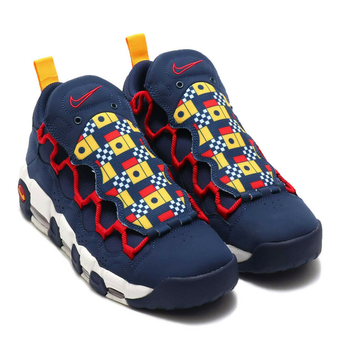 Nike Air More Mo Money Uptempo Nautical Redux Navy blueee Red Yellow AR5396-400