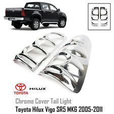 MATTE BLACK REAR TAILGATE DOOR COVER TRIM FOR TOYOTA HILUX VIGO MK6 SR5 2005-12