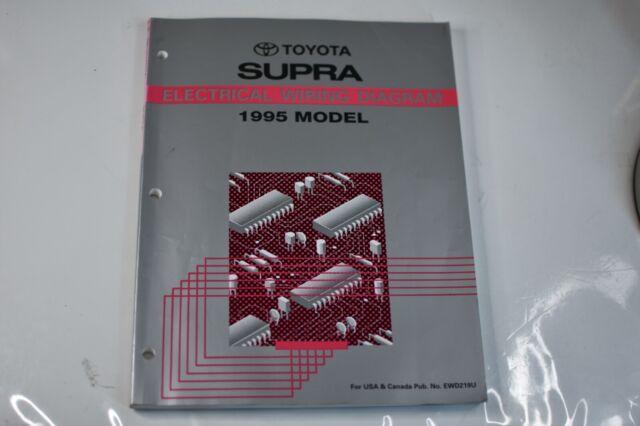 1995 Toyota Supra Oem Electrical Wiring Diagram Book