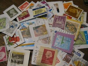 Lot-100-Timbres-Europe-Obliteres-Pochette-Tous-Differents-Stamps-Sellos-Briefm
