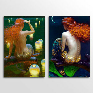 Image Is Loading Unframed Home Decor Canvas 2 Panels Wall Art