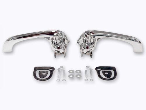 1964-66 1969-70 Ford Falcon Bronco Mustang Outside Door Handles CHROME  EXCELL