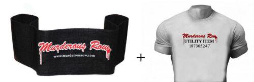 MURDEROUS ROW Bench Press Sling Shot Murderous Row Muscle Fit Gym Tee 2XL