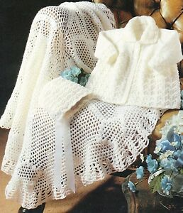 Baby Knitting  Crochet  Pattern DK 4ply Matinee Coat Shawl Bonnet   size 224 - <span itemprop=availableAtOrFrom>Belper, United Kingdom</span> - Returns accepted Most purchases from business sellers are protected by the Consumer Contract Regulations 2013 which give you the right to cancel the purchase within 14 days after the day y - Belper, United Kingdom