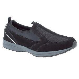 Women-Easy-Spirit-PIERS-Black-Char-Casual-Sneakers-Slip-On-Walking-Shoes