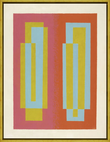 Framed Josef Albers Oscillating A Giclee Canvas Print Paintings Poster