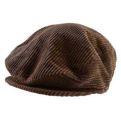 Cotton Velvet Corduroy Gatsby Golf Newsboy Cabbie Cap Hat Mens Women Fall Winter