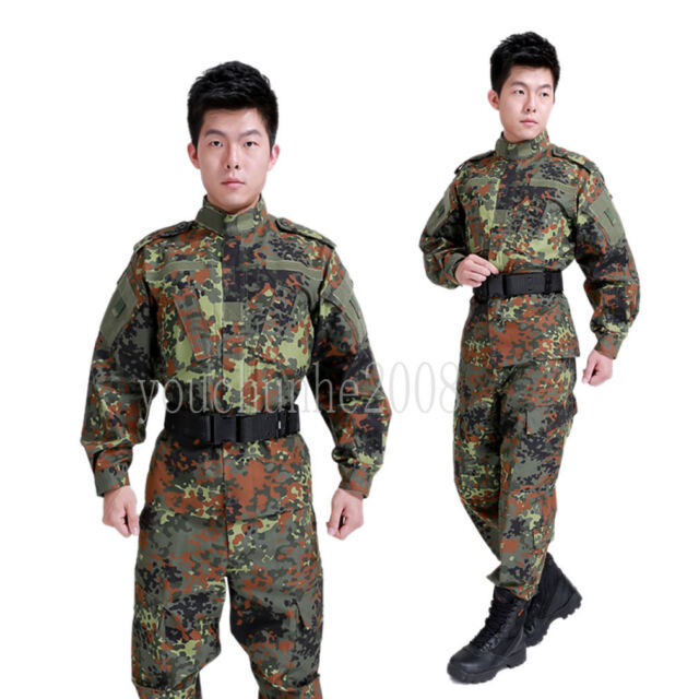 TACTICAL UNIFORM US SPECIAL FORCES JACKET PANTS TROUSERS FLECKTARN CAMO M-35657