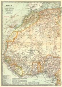 Senegal On Africa Map.West Africa Algeria Morocco Nigeria Senegal Togo Gold Coast Ghana