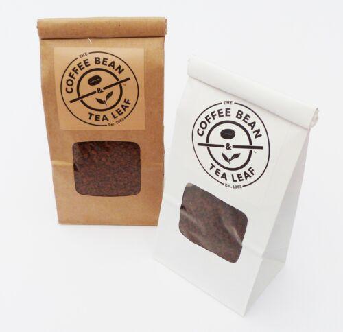 Personnalisé Imprimé Chocolat Sacs//sachets avec Fenêtre Personnalisé Nom