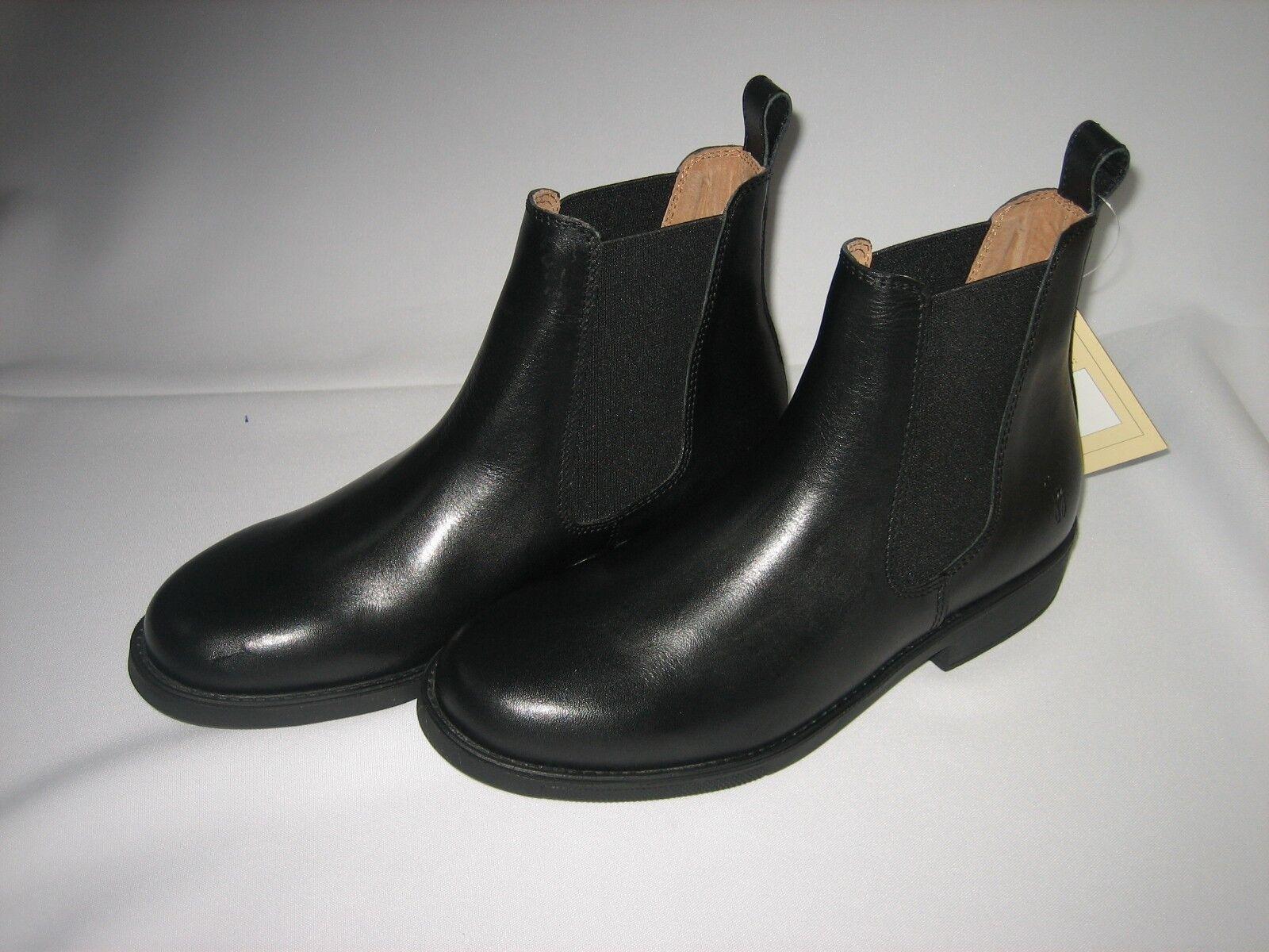 BERLIN Reitstiefeletten Leder schwarz Größe 28 - 47
