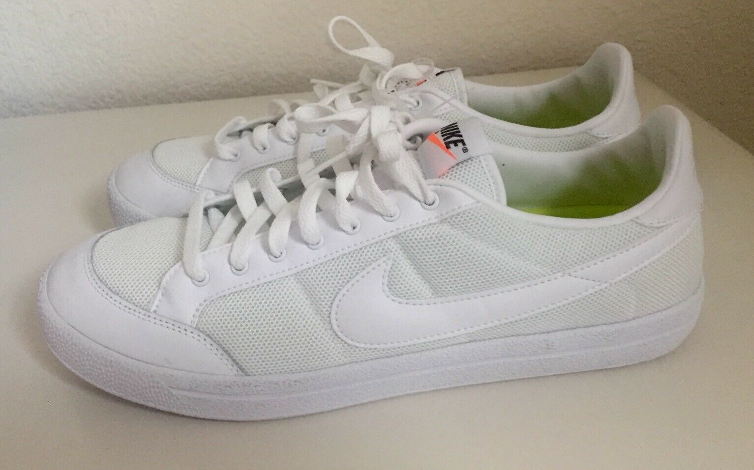 Nike Men's Sportswear Meadow 16 Textile Low Plimsole Canvas Shoes White Size 12
