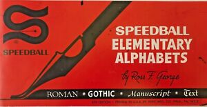 Speedball-Elementary-Alphabets-1940-Booklet-by-Ross-George-6th-Edition-Lettering