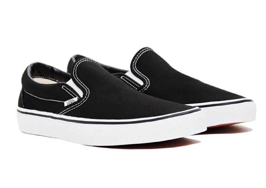 Vans Classic Slip-On Black White Unisex Sneakers Canvas shoes New