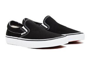 Vans Classic Slip-On Black White Unisex Sneakers Canvas Shoes New  d06795273