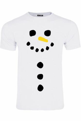 Homme Bonhomme De Neige Carotte Nez à encolure ras-du-cou à manches courtes de Noël Extensible T-shirt Tee Top
