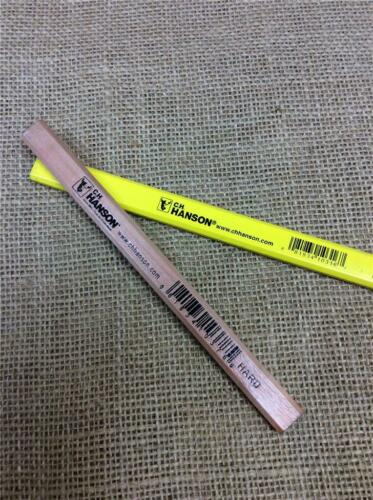 CLEARANCE LOT C H HANSON CARPENTERS PENCILS YELLOW OR NATURAL WOOD HARD LEAD