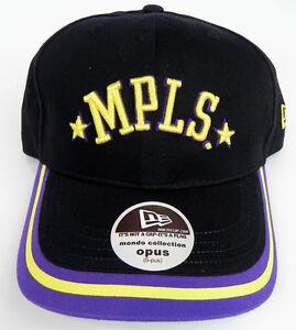 LOS-ANGELES-MPLS-LAKERS-NBA-NEW-ERA-VINTAGE-BLACK-OPUS-CAP-HAT-NWT-RARE