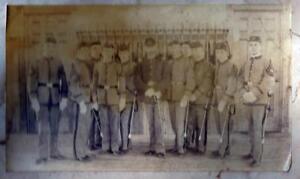 Details About Indian War Era Group Photo Two Units Same Building Carte De Visite Images